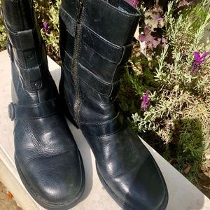 Black Leather Boots - Size 9M